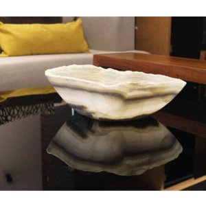 Natural stone centerpiece